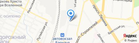 ТЕПЛОДАР на карте Барнаула
