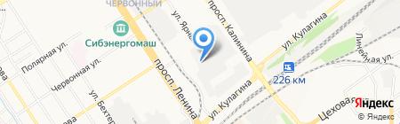 Тираж на карте Барнаула