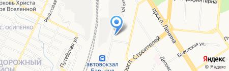 Листок на карте Барнаула