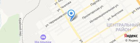 Хмельной бочонок на карте Барнаула