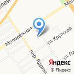 Юниор на карте Барнаула