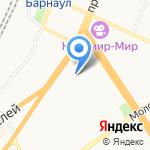 Управление Алтайского края по труду и занятости населения на карте Барнаула