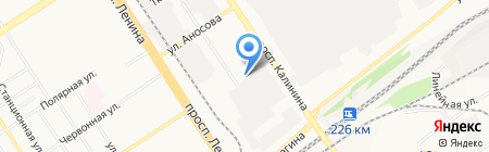 Артэс-Энергетик на карте Барнаула