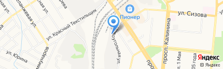 Хортэк-Алтай на карте Барнаула