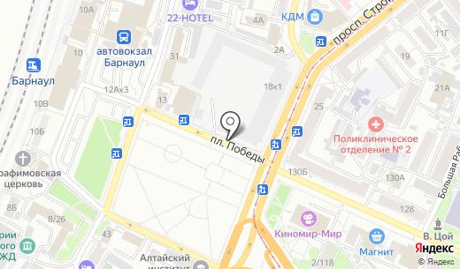 Аптека Хелми. Схема проезда в Барнауле