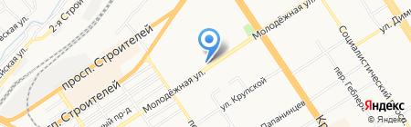 Молочные продукты Алтая на карте Барнаула