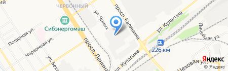 Индустрия Алтая на карте Барнаула