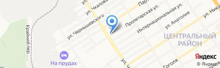 Мега на карте Барнаула