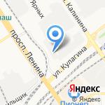 Восток на карте Барнаула
