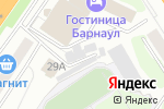 Схема проезда до компании RedBerry в Барнауле