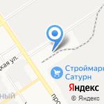 Росшина на карте Барнаула
