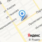 Данила-Мастер на карте Барнаула