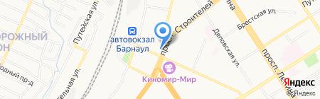 Росич на карте Барнаула