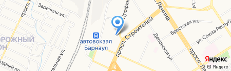 Трансфинит групп на карте Барнаула