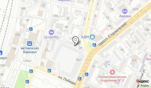Краевой дом моделей. Схема проезда в Барнауле