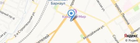 Барнаул на карте Барнаула