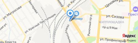 Автосервис 22 на карте Барнаула
