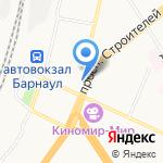 Локомотив на карте Барнаула