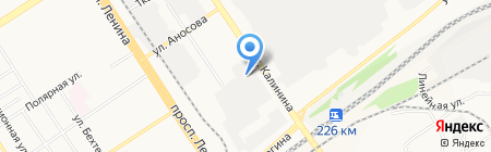 Интерра на карте Барнаула