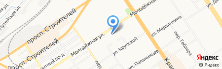 Детско-юношеский центр Железнодорожного района на карте Барнаула