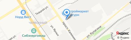АЭРОКАР на карте Барнаула