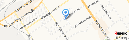 Адмирал на карте Барнаула