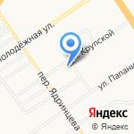Зеленое яблоко на карте Барнаула