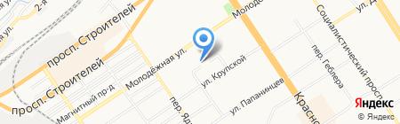 Атриум на карте Барнаула