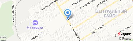 Островок на карте Барнаула