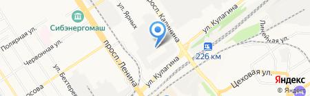 Алтайский геофизический завод на карте Барнаула