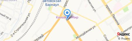 Мир подарков на карте Барнаула