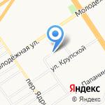 Молодёжное 53 на карте Барнаула