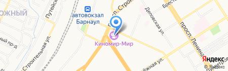 KFC на карте Барнаула