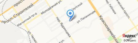 Альбатрос на карте Барнаула