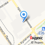Иней на карте Барнаула