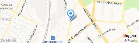 Салон свадебных платьев на карте Барнаула