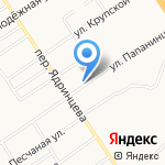 Домовой на карте Барнаула