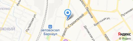 Территориальное общественное самоуправление Привокзального микрорайона на карте Барнаула