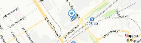 Профнастил на карте Барнаула