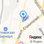 Выбор молодых на карте Барнаула