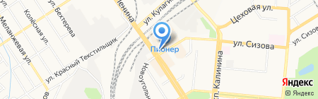 Купеческий двор на карте Барнаула