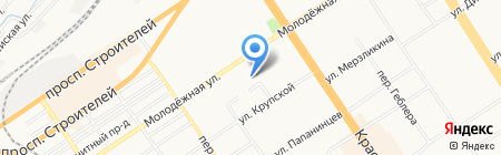Академическое на карте Барнаула