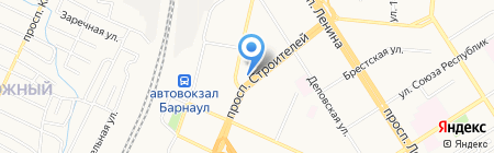 Солнечный свет на карте Барнаула