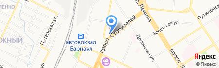 Сота GSM на карте Барнаула