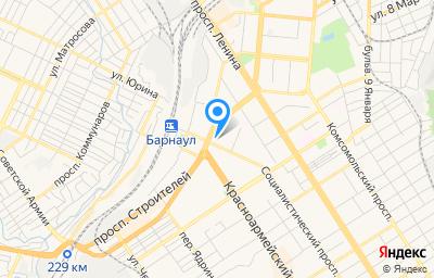 Местоположение на карте пункта техосмотра по адресу г Барнаул, пр-кт Строителей, д 25Б