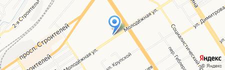 Намасте на карте Барнаула