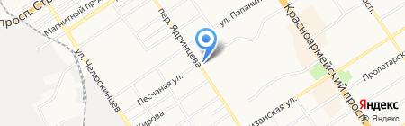 Станция скорой медицинской помощи на карте Барнаула