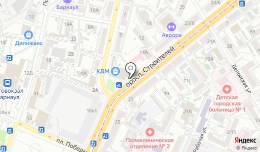 Киоск фастфудной продукции. Схема проезда в Барнауле