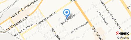 Бублик на карте Барнаула