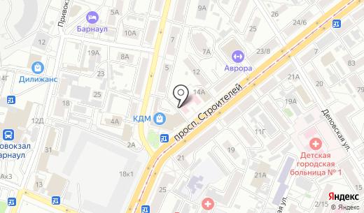 Банкомат Банк ВТБ 24. Схема проезда в Барнауле